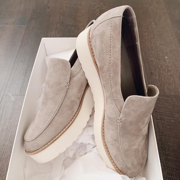 Vince Zeta Platform Loafer Size 9 Gray